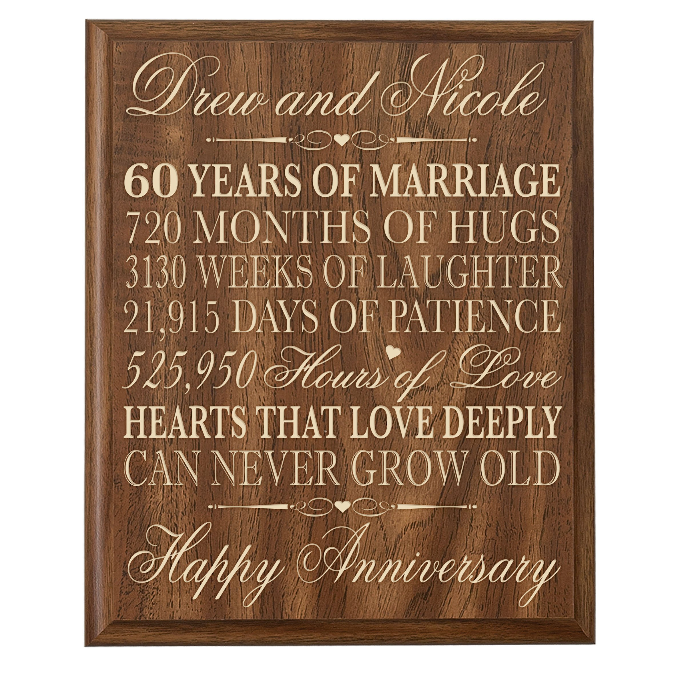 60th Wedding Anniversary Gifts For Parents 6
