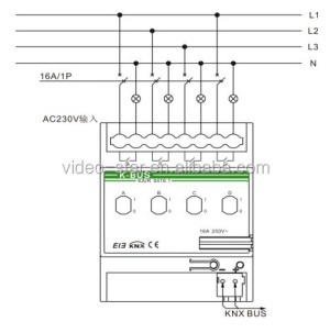 Switch Actuator 4fold(knx Intelligent Home And Building