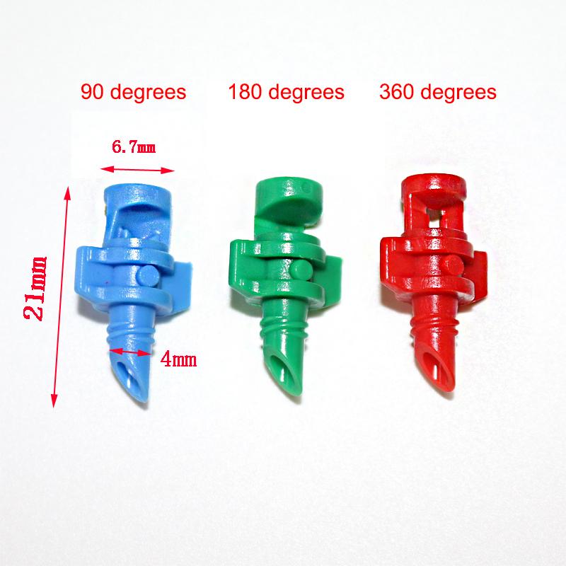 HTB1MGehbWLN8KJjSZFmq6AQ6XXau 50 Pcs Garden Irrigation Simple Refraction nozzle Watering Flower Mist Nozzle Threaded connection 90/180/360 Degrees Sprayer