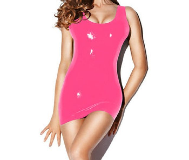New Arrival Pink Latex Mini Dress Sexy Lingerie Rubber Fun Fancy Dress Fetish Exotic Apparel Sexy Costumes Buy Latex Dresswomen Sexy Costumesrubber