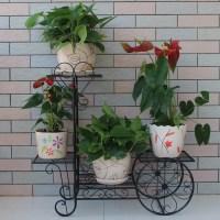Metal Bicycle Flower Pot Holder Wrought Iron