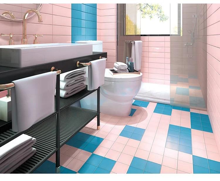 carrelage de salle de bains en ceramique couleur rose fini mat 20x20 pour mur et sol offre speciale buy carreau de ceramique vert fonce carreau de