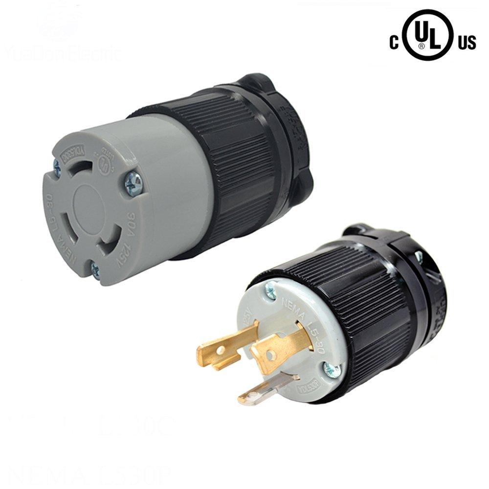 hight resolution of yuadon ul listed 125 volt 30 amp nema l5 30 sets nema