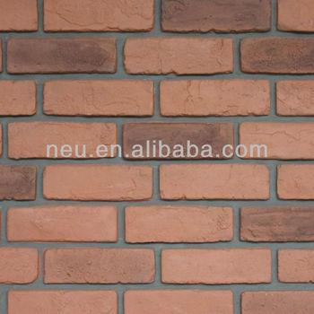 Artificial Stone Fireplace,Decorative Bricks,Plastic Red
