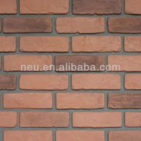 Artificial Stone Fireplace,Decorative Bricks,Plastic Red