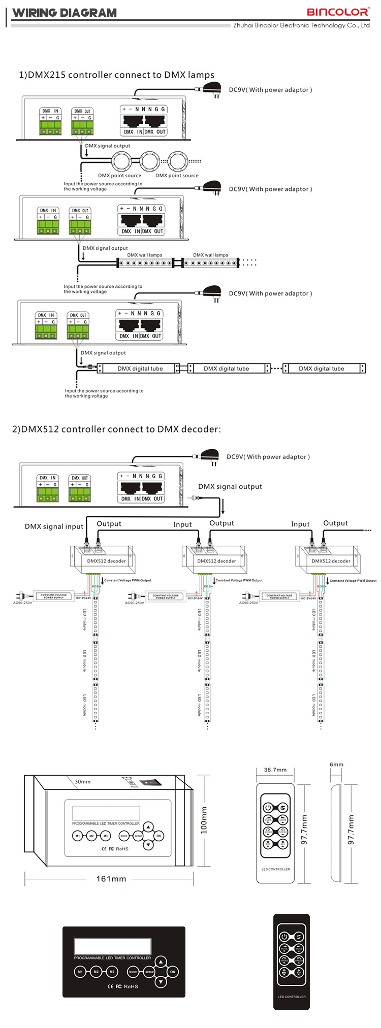 hight resolution of  dmx connectors diagram bc 100 new arrival dmx rgb led time controller programmable digital on dmx wiring guide