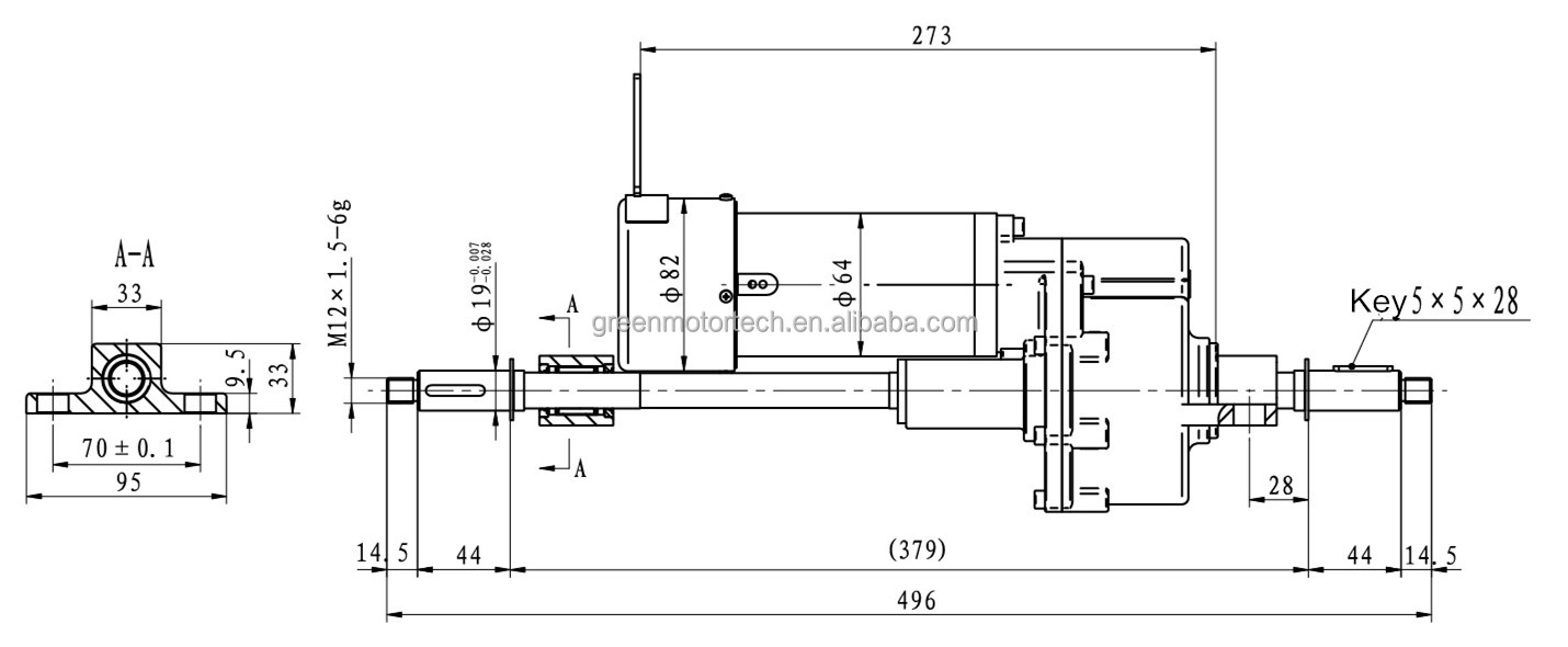 transaxle for electric mobility scooter 24V price, View