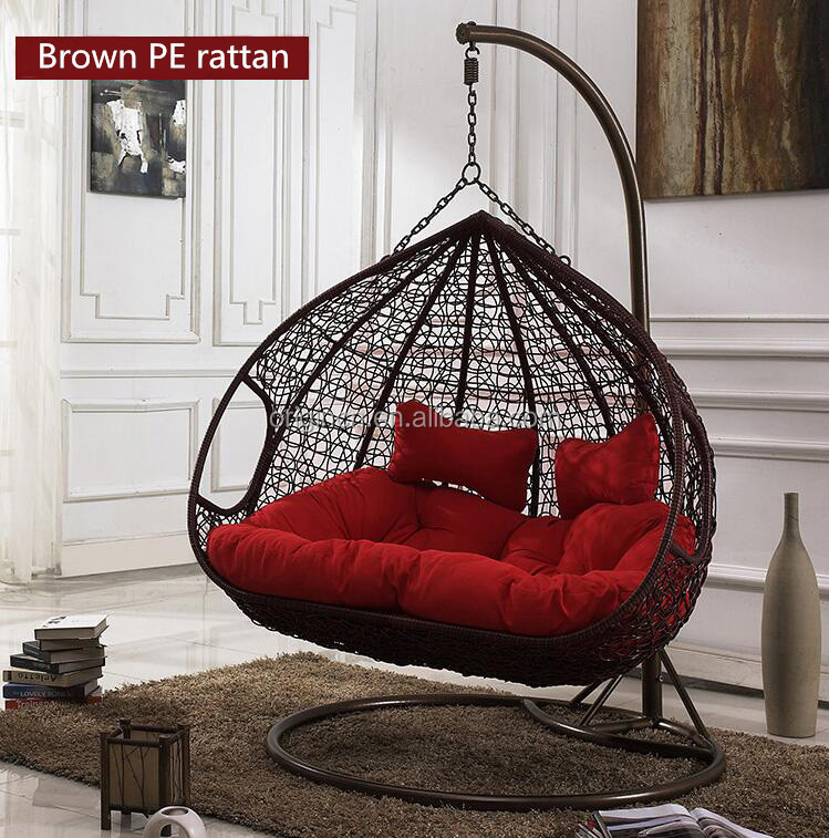 indoor hanging egg chair with stand oxo tot seedling high outdoor furniture double seats rattan nest swing orw-1006a - buy ...