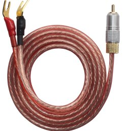 kr ry speaker wire pair with rca male to 2 pair spade plug 2 [ 1640 x 1848 Pixel ]