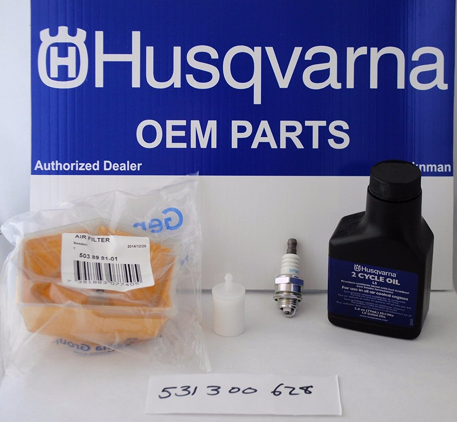 hight resolution of get quotations husqvarna oem 531300628 531300504 chainsaw maintenance kit 51 55 55 rancher