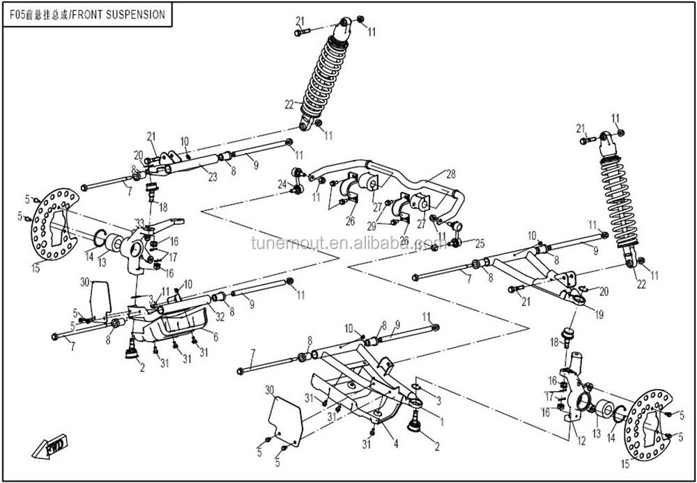 Cfmoto 800cc Utv Front Suspension Parts 7030-050610 30006