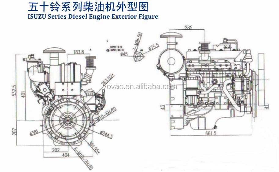 High Quality Isuzu Brand 4-cylinder Diesel Engine For Sale