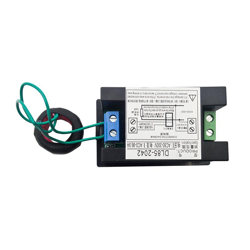 digital ac ammeter circuit diagram barber shave and voltmeter 80 300v 100a volt voltage current meter dl85