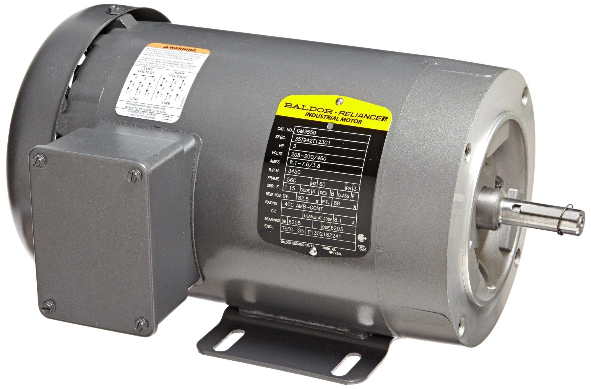 hight resolution of get quotations baldor cm3559 general purpose ac motor 3 phase 56c frame tefc enclosure