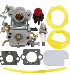 get quotations hilom carburetor with air fuel filter fuel line for poulan craftsman zama c1m w26c 545070601 [ 1000 x 1000 Pixel ]
