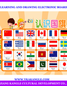 Educational wall chart classroom poster learning and drawing electronic board with different countries flags also rh alibaba