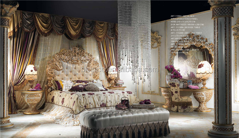 World Treasure Italian Antique Fashional Bedroom Furniture