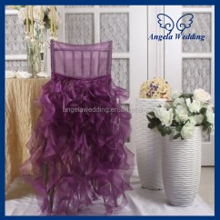 Fancy Chair Covers For Sale Adult Saucer Ch007q Angela Wedding Hot Frilly Curly Willow Champagne And Ivory Ruffled
