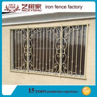 2016 Simple Wrought Iron Window Grills Designs / Steel