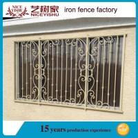 2016 Simple Wrought Iron Window Grills Designs / Steel