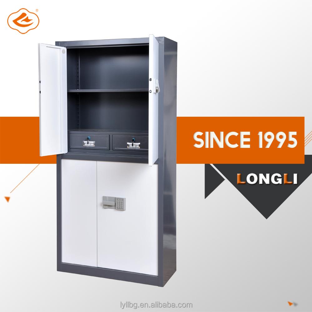 Safe Cabinet Two Doors Electronic Lock Steel Storage