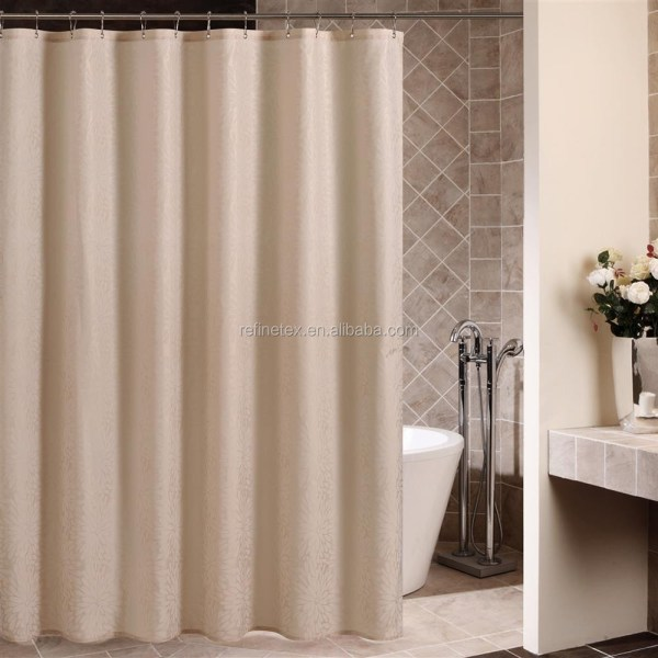 High Quality Hotel Used Polyester Bathroom Shower Curtain