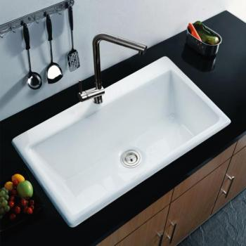 single bowl cast iron kitchen sink designing white color nh 6008 buy