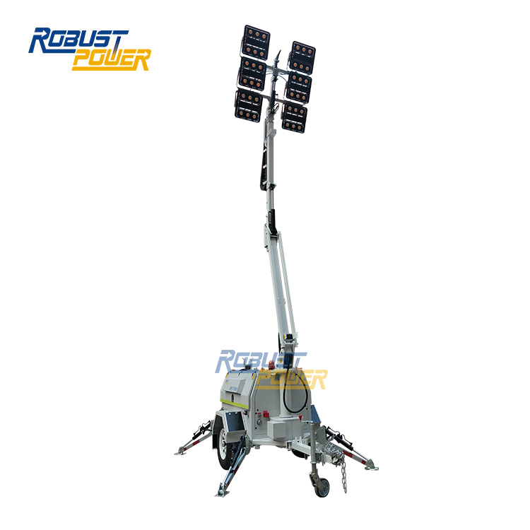 Competitive Price 150l Silent Mobile Light Tower Generator