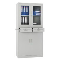 High Quality Metal Furniture Glass Door Steel File Cabinet ...