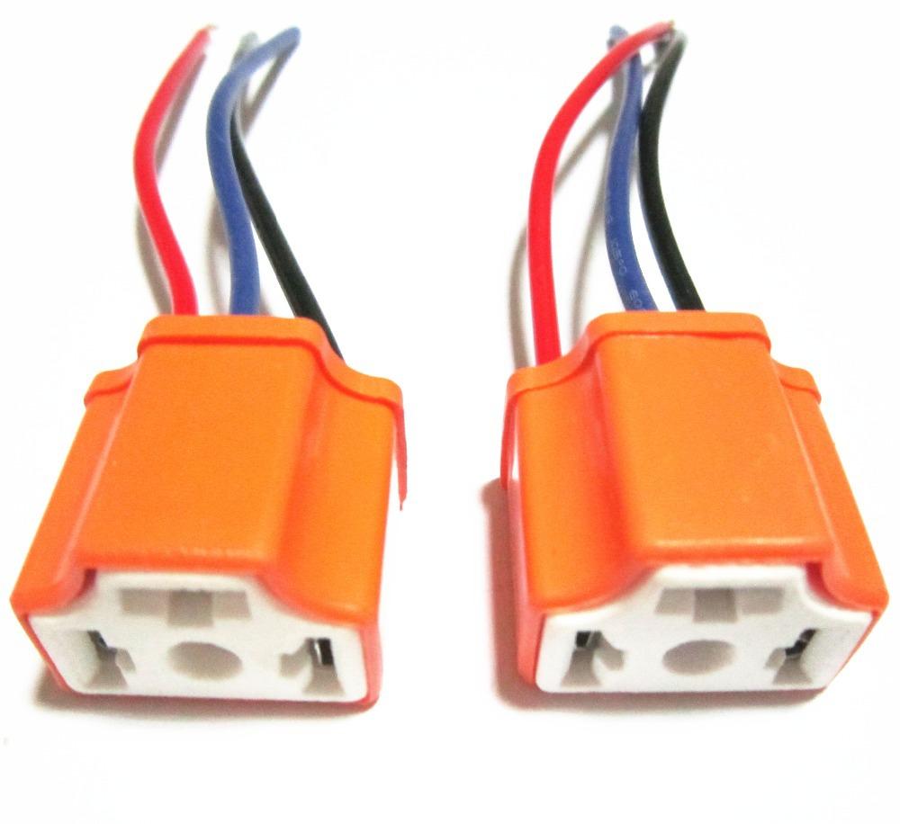 hight resolution of get quotations 2pcs lot h4 ceramic female socket heat resistance headlight wiring harness lamp holder socket connecter