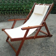 Outdoor Beach Chairs Recovering Chair Cushions Canvas Folding Wood Buy