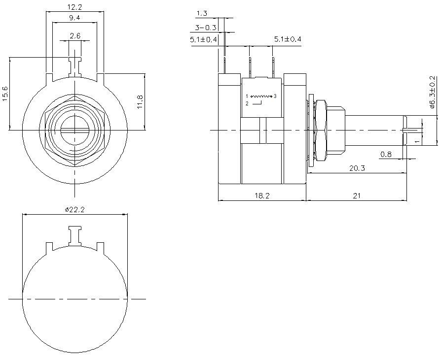 Wxd3590s 10 Turns Wire-wound 10k Linear Potentiometer