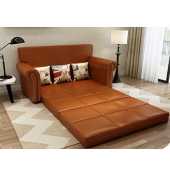 foldable wooden sofa set chestnut table classic multifunctional bed folding living room american style