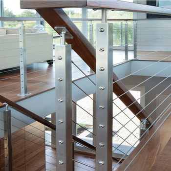 Modern Design Stainless Steel Wire Railing /wooden