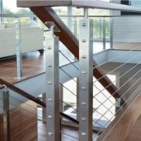 Modern Design Stainless Steel Wire Railing /wooden