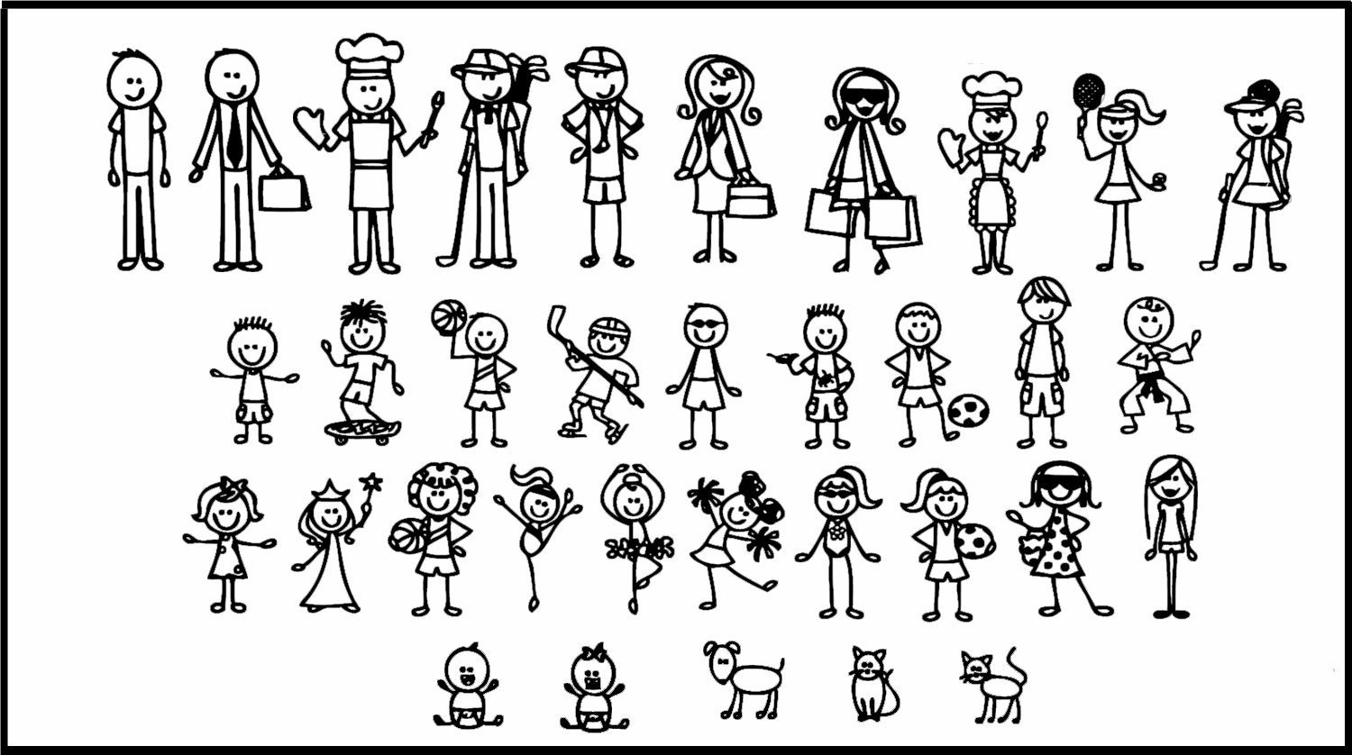 Buy 34 STICK FIGURE FAMILY Your Stick Figures can be
