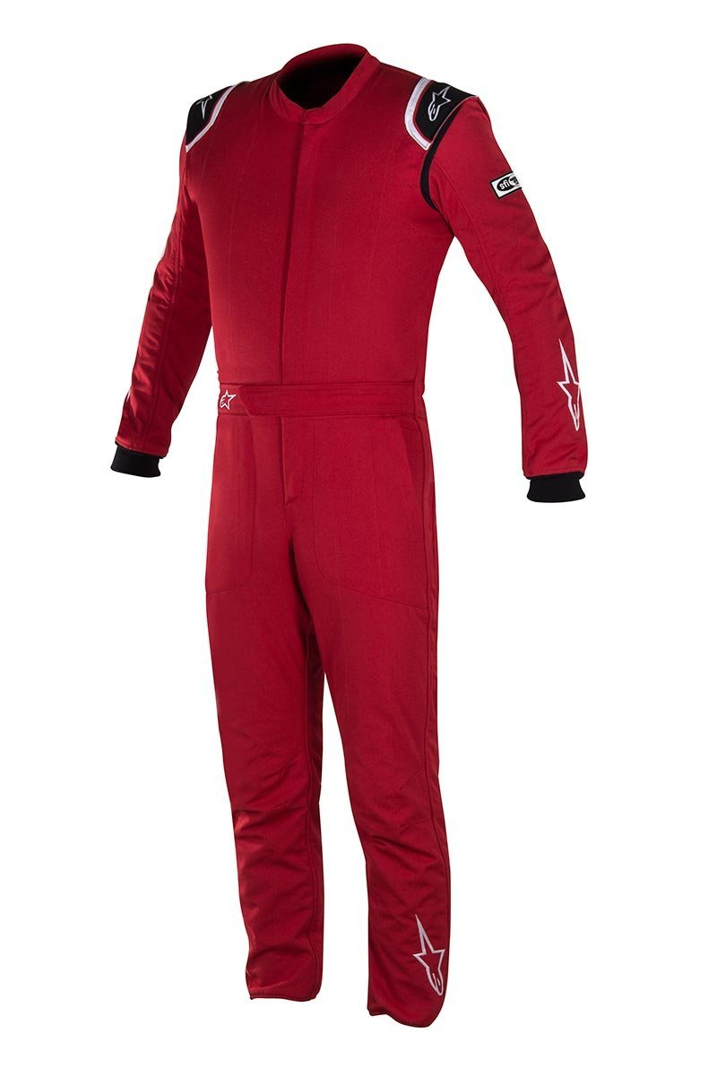 Alpinestars Delta Auto Racing Suit Boot Cut 2 Layer Size 54 Red Black
