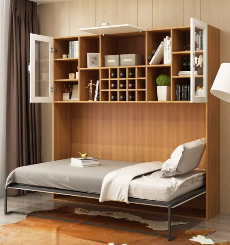 new style modern hidden wall bed horizontal murphy bed with storage cabinet buy murphy bed wall bed murphy bed horizontal murphy bed product on