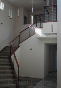 Stainless Steel Wood Interior Cable Railing/indoor Glass