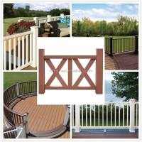 Balcony Railing Design Decorative Wood Rail Outdoor Wpc