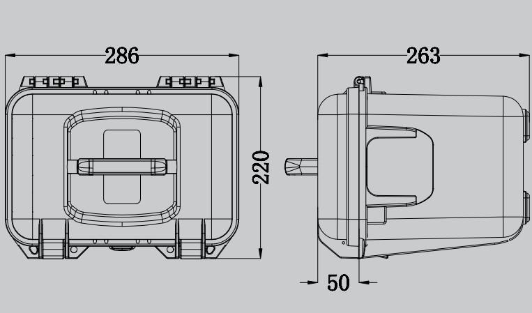 Tsunami Model 261722 Plastic Carrying Case Hard Case Jbl