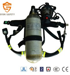 en137 self contained breathing apparatus scba with 9l carbon fiber cylinder for military and civil defence using ayonsafety [ 1417 x 1417 Pixel ]