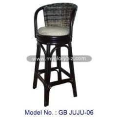 Black Rattan Chair Cover Rental Vaughan Antique Natural High Pub Bar Swivel Stool In Furniture Indoor