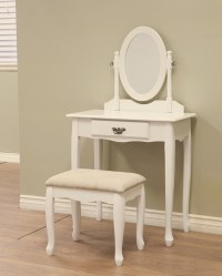 Vanity Dresser Stool Mirror Set Girls Kids Childs Dressing ...