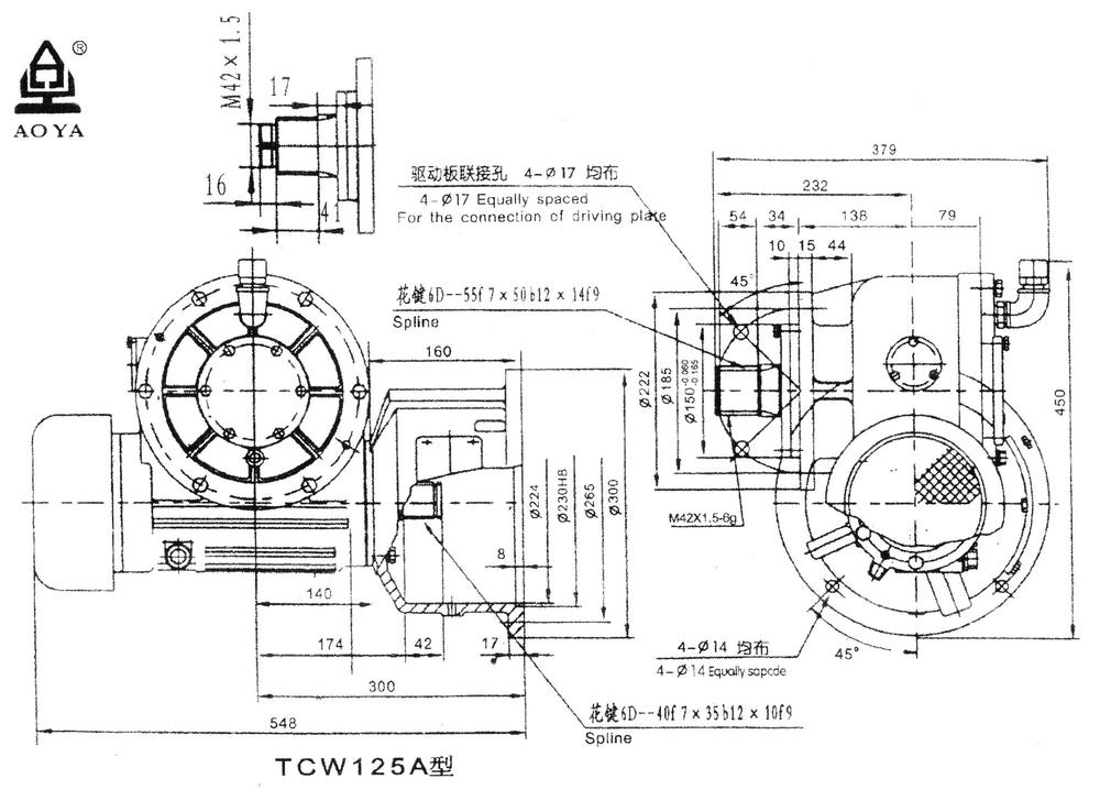 Construction Spare Parts Worm Gear Reducer Gearbox,Motor