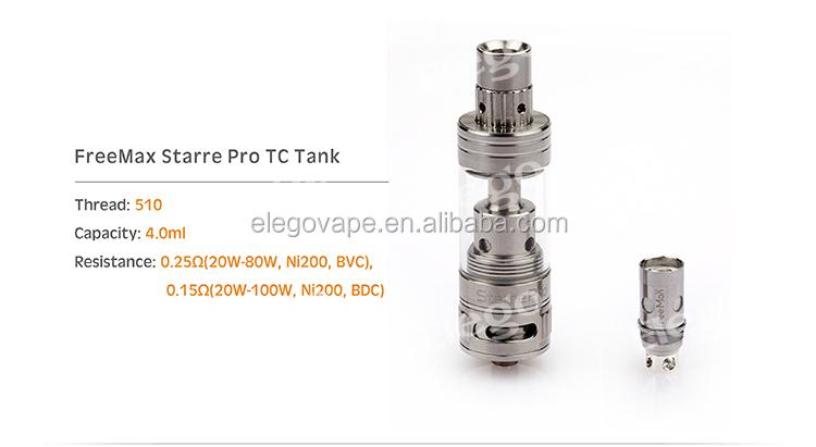 Revolutionary Freemax Starre Pro Tc Tank 4.0ml Top Filling