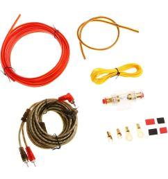baoblaze brand new durable car audio subwoofer amplifier wiring kit power cable 10ga [ 1024 x 1024 Pixel ]
