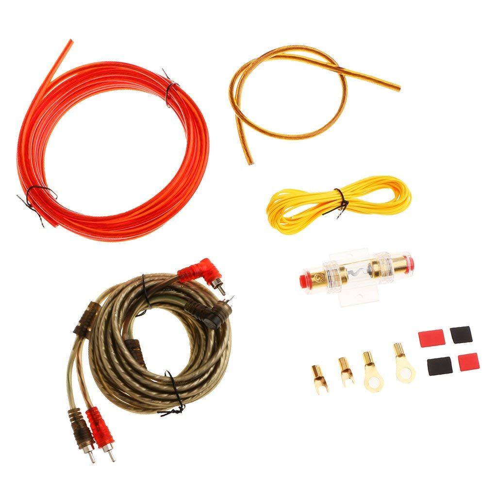 hight resolution of baoblaze brand new durable car audio subwoofer amplifier wiring kit power cable 10ga