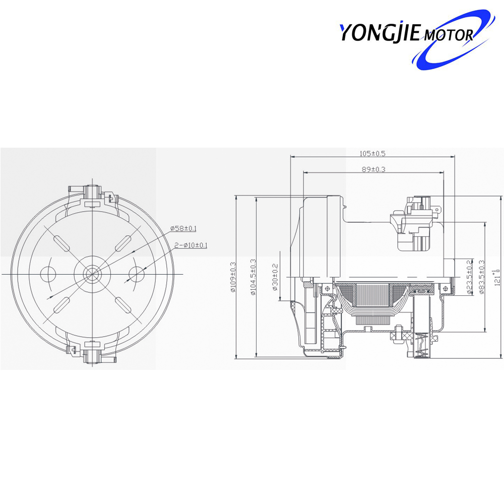 V1j-pt 120v Ac Induction Electric Motor,High Power