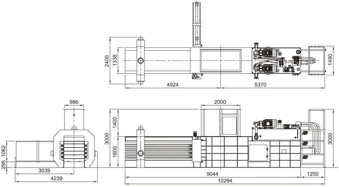 Low Price Horizontal Waste Paper Press Machine/hydraulic